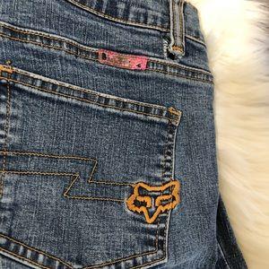 Fox boot cut denim jeans